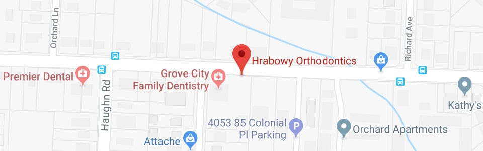 Footer maps Hrabowy Orthodontics Columbus Grove City OH